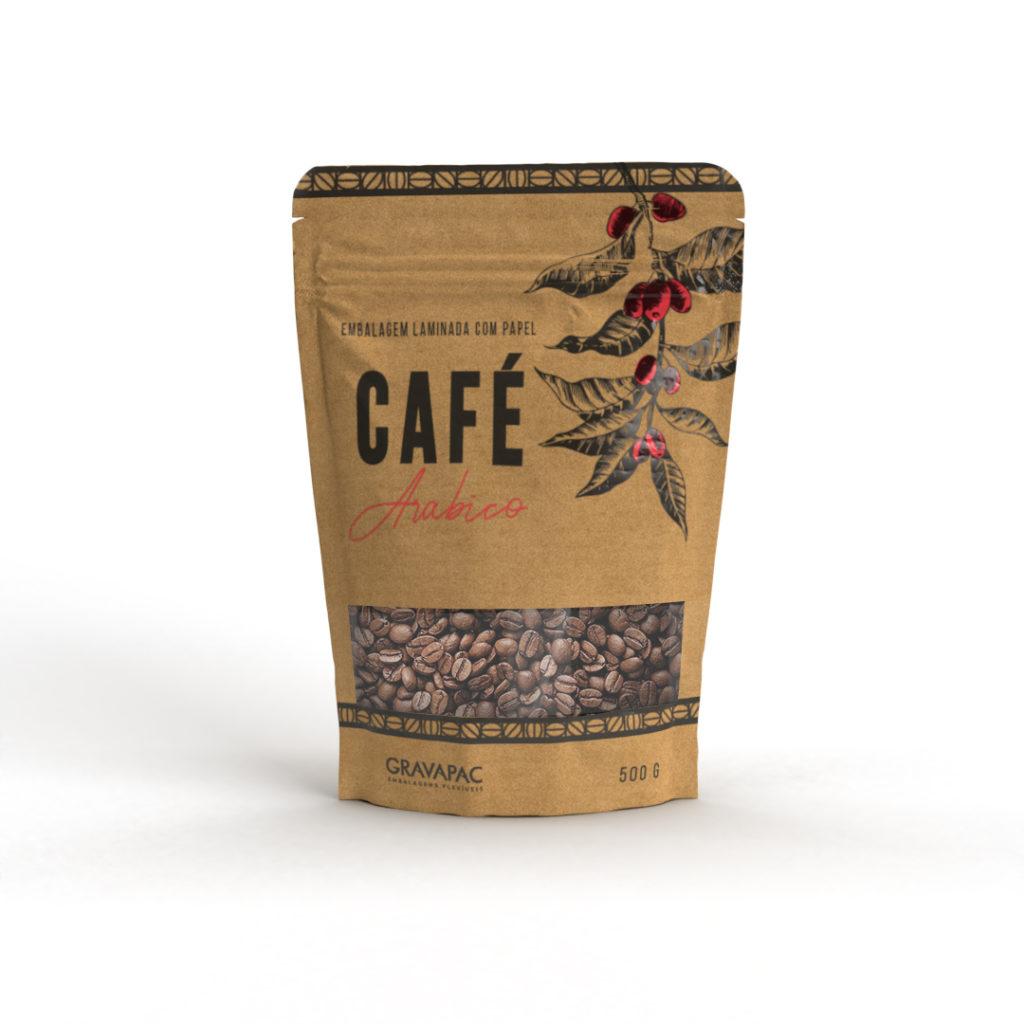 Embalagem café kraft